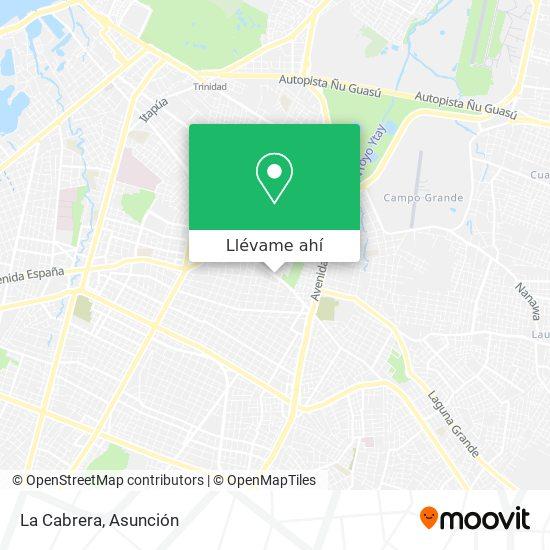 Mapa de La Cabrera