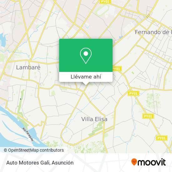 Mapa de Auto Motores Gali