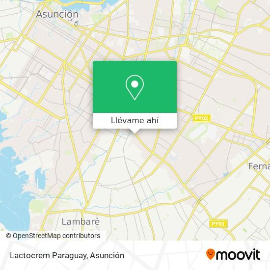 Mapa de Lactocrem Paraguay