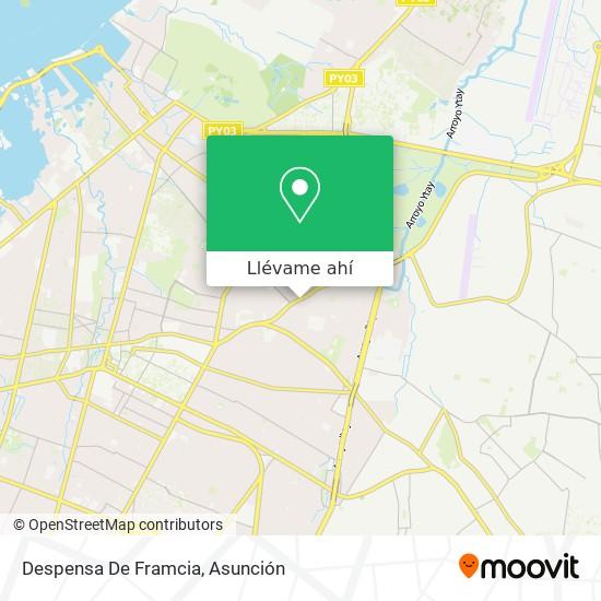 Mapa de Despensa De Framcia