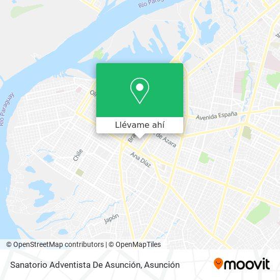 Mapa de Sanatorio Adventista De Asunción