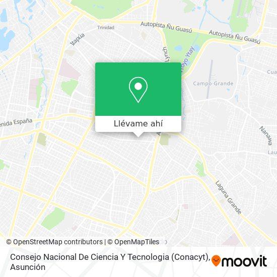 Mapa de Consejo Nacional De Ciencia Y Tecnologia (Conacyt)