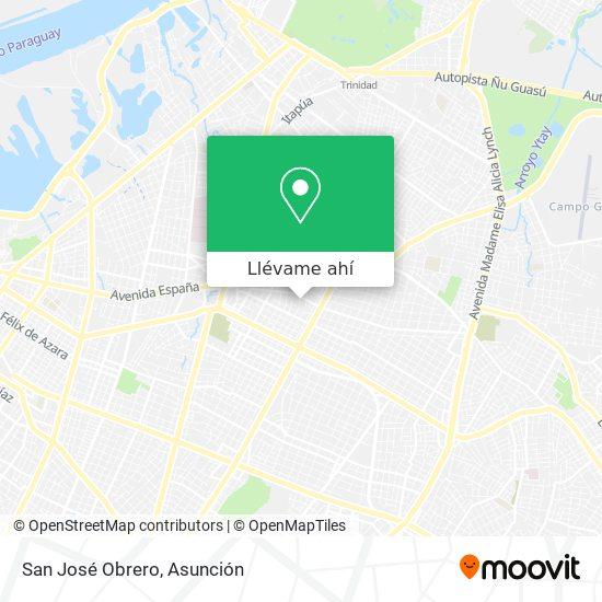 Mapa de San José Obrero