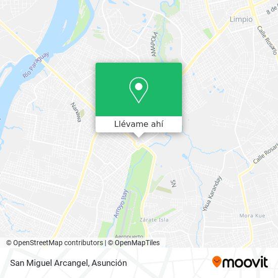 Mapa de San Miguel Arcangel