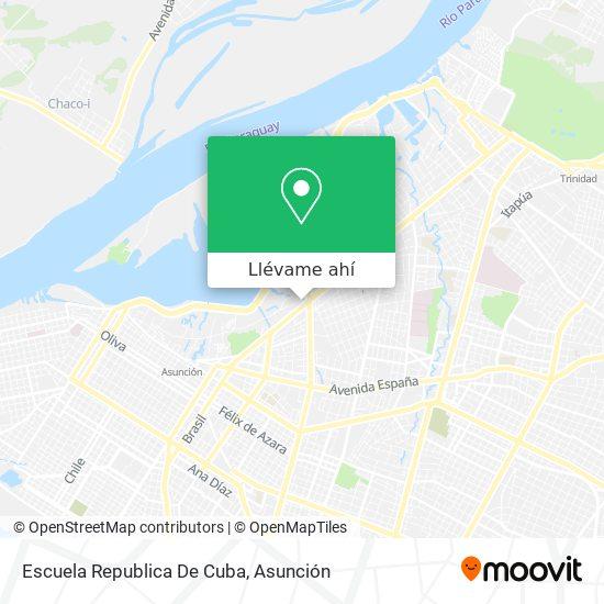Mapa de Escuela Republica De Cuba