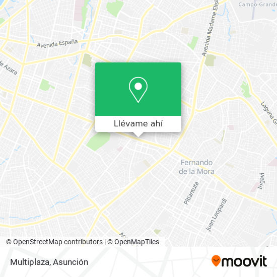 Mapa de Multiplaza