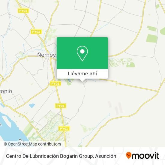 Mapa de Centro De Lubnricación Bogarin Group