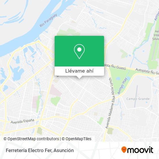Mapa de Ferretería Electro Fer