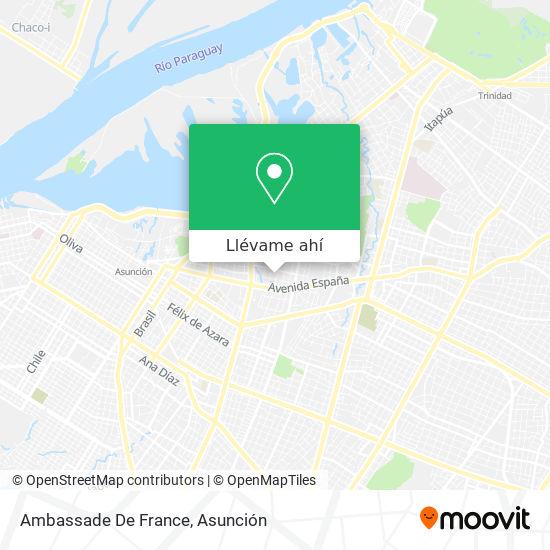 Mapa de Ambassade De France Au Paraguay