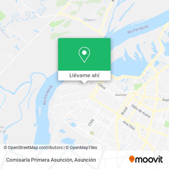 Mapa de Comisaría Primera Asunción