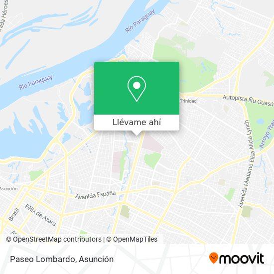 Mapa de Paseo Lombardo