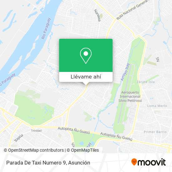 Mapa de Parada De Taxi Numero 9