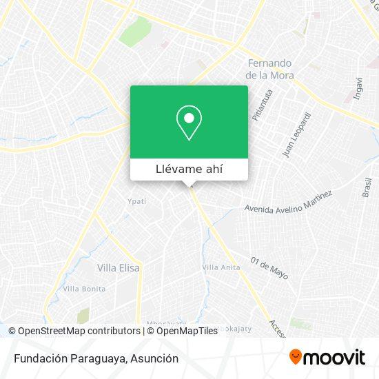 Mapa de Fundación Paraguaya