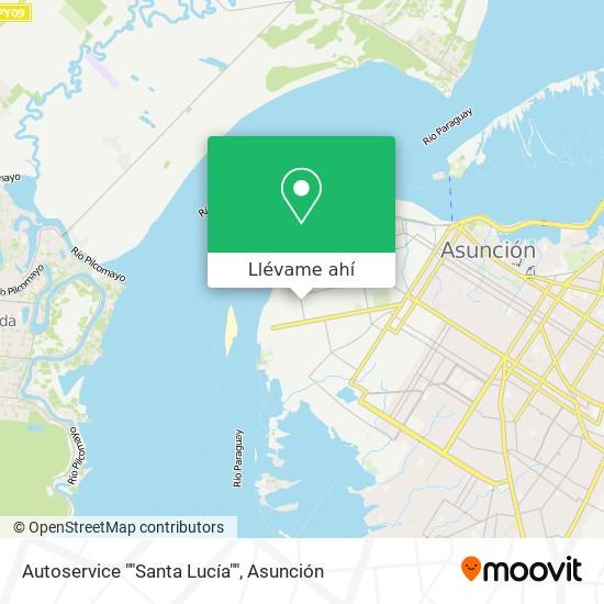 """Mapa de Autoservice """"""""Santa Lucía"""""""""""