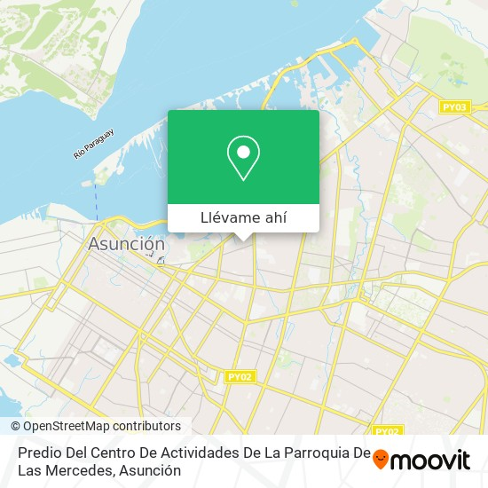 Mapa de Predio Del Centro De Actividades De La Parroquia De Las Mercedes