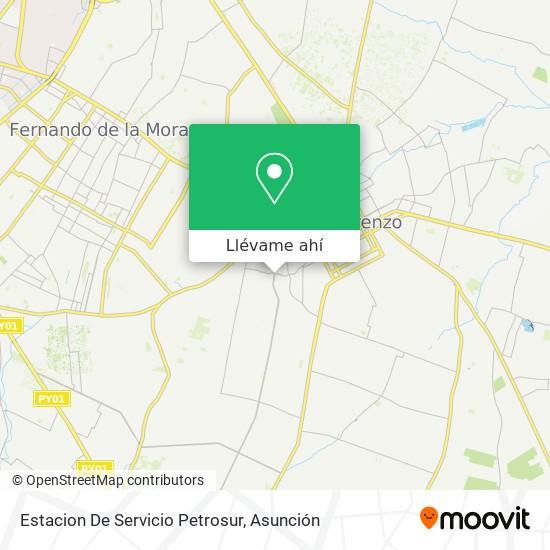 Mapa de Estacion De Servicio Petrosur