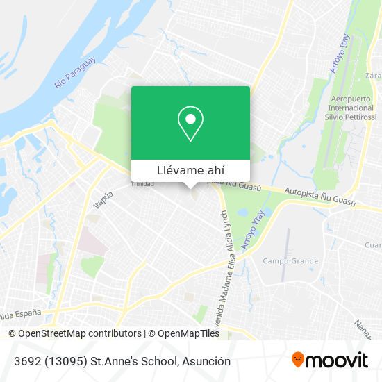 Mapa de 3692 (13095) St.Anne's School