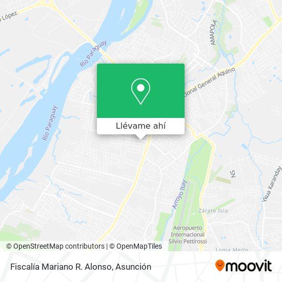 Mapa de Fiscalía Mariano R. Alonso