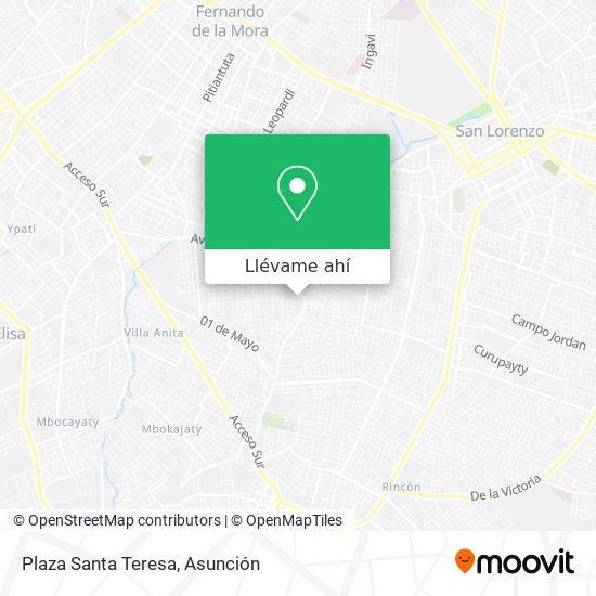 Mapa de Plaza Santa Teresa