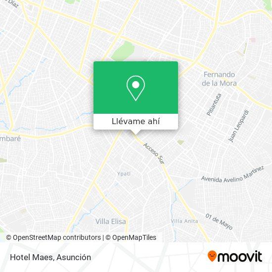 Mapa de Hotel Maes