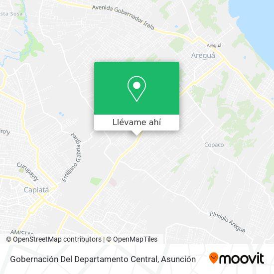 Mapa de Gobernación Del Departamento Central