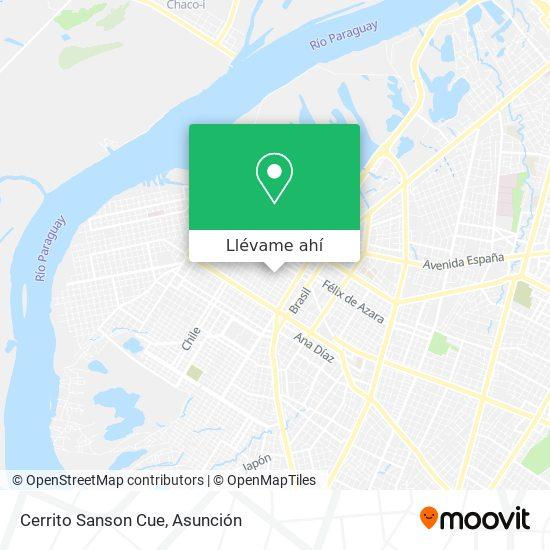 Mapa de Cerrito Sanson Cue