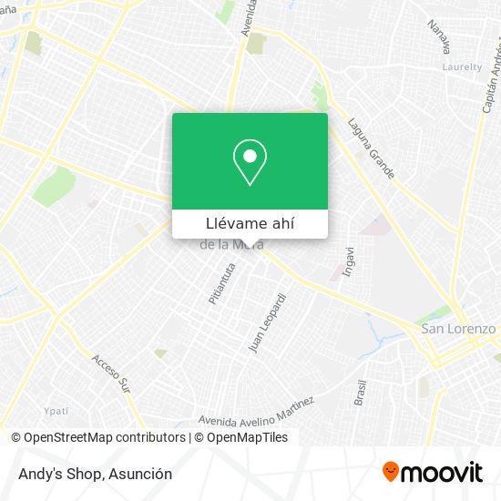 Mapa de Andy's Shop