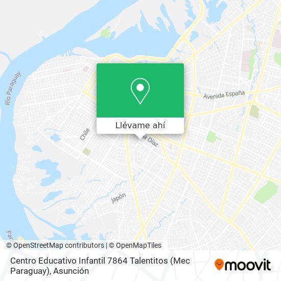 Mapa de Centro Educativo Infantil 7864 Talentitos (Mec Paraguay)