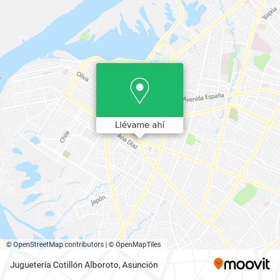 Mapa de Juguetería Cotillón Alboroto