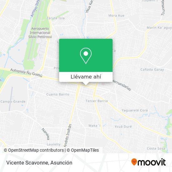 Mapa de Vicente Scavonne