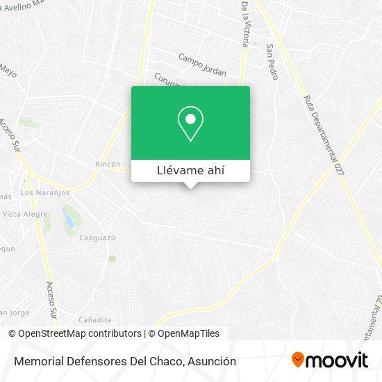 Mapa de Memorial Defensores Del Chaco