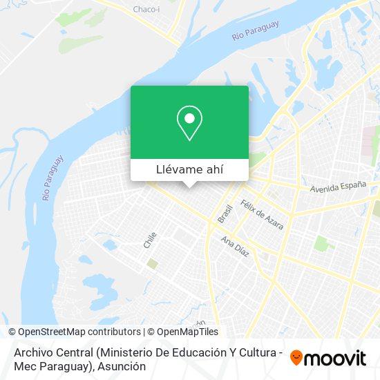 Mapa de Archivo Central (Ministerio De Educación Y Cultura - Mec Paraguay)