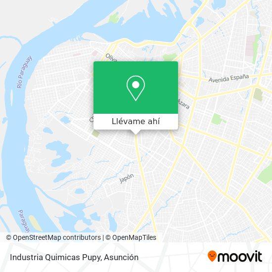Mapa de Industria Quimicas Pupy