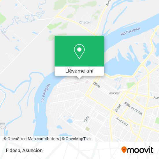 Mapa de Fidesa