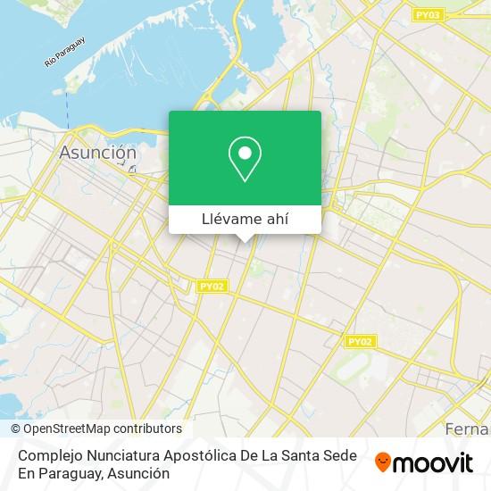 Mapa de Complejo Nunciatura Apostólica De La Santa Sede En Paraguay