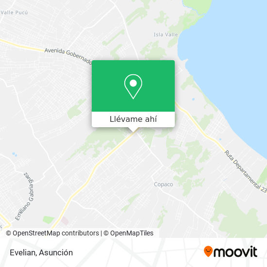 Mapa de Evelian