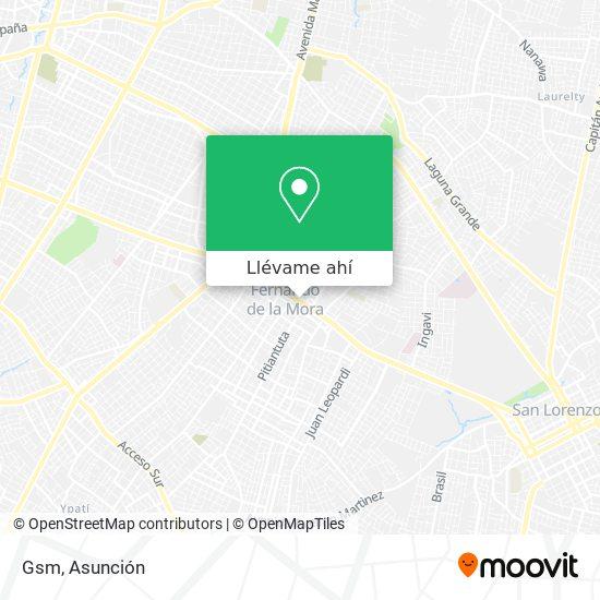 Mapa de Gsm