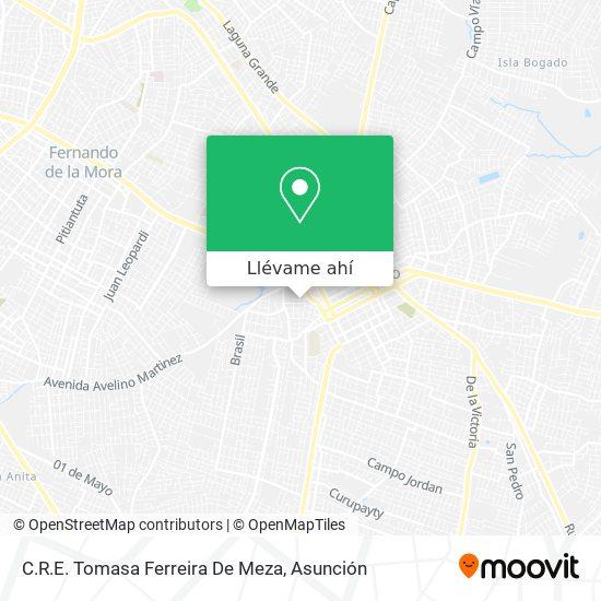 Mapa de C.R.E. Tomasa Ferreira De Meza