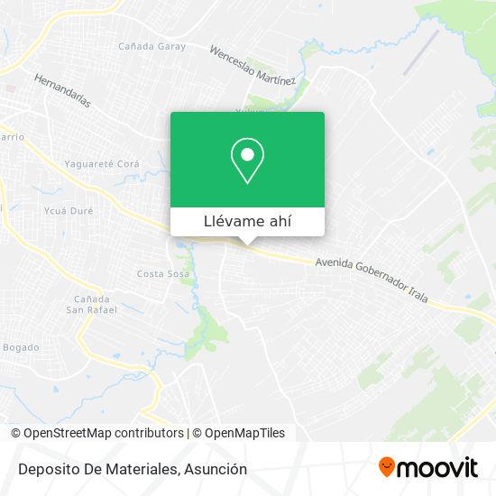 Mapa de Deposito De Materiales