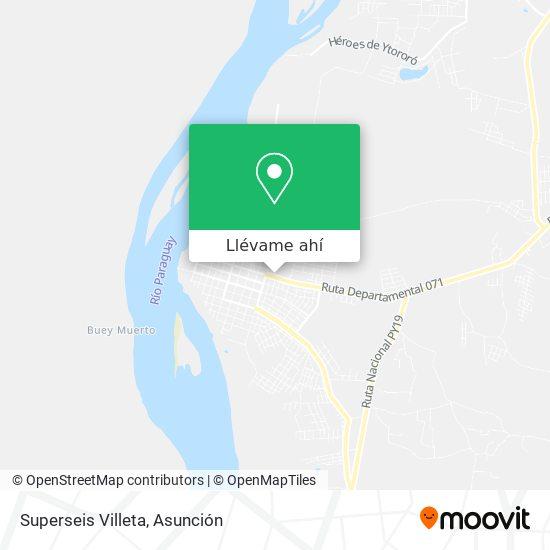 Mapa de Superseis Villeta