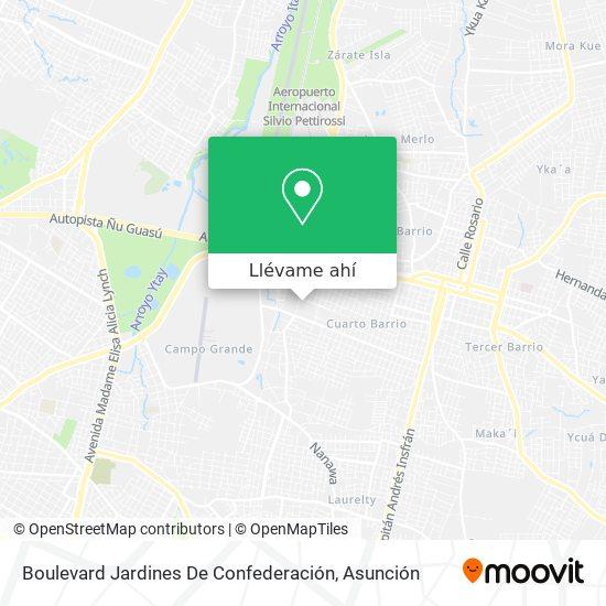 Mapa de Boulevard Jardines De Confederación
