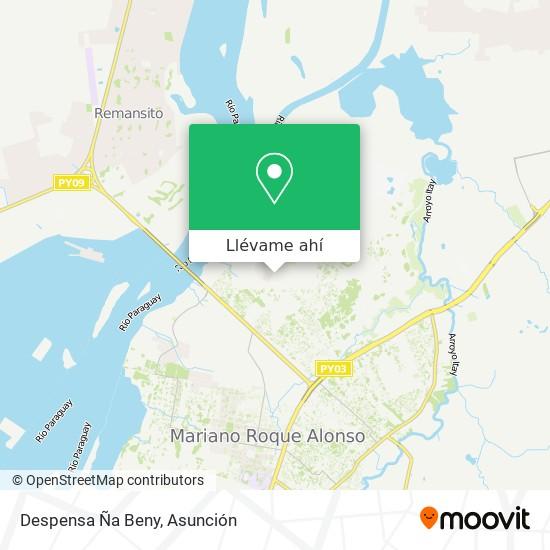 Mapa de Despensa Ña Beny