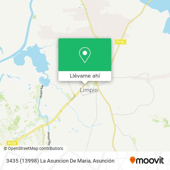 Mapa de 3435 (13998) La Asuncion De Maria