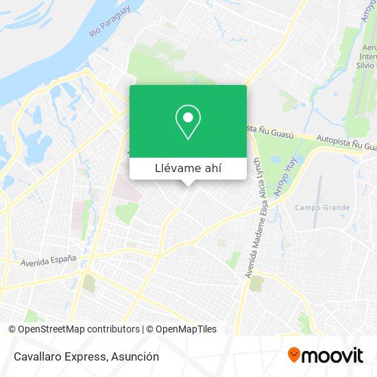 Mapa de Cavallaro Express