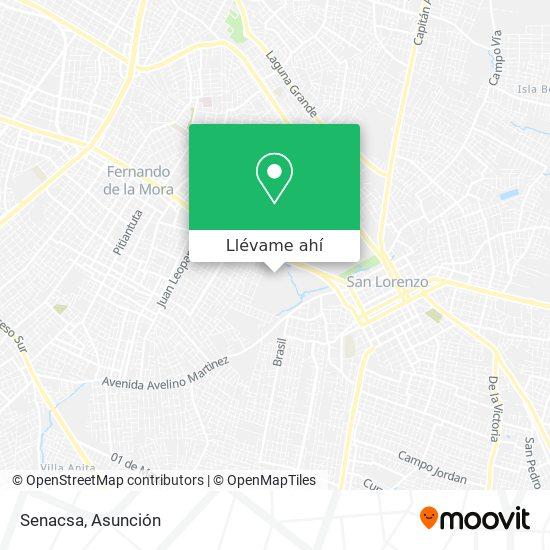 Mapa de Senacsa