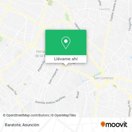 Mapa de Baratote