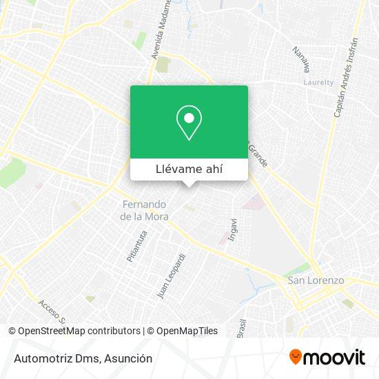 Mapa de Automotriz Dms