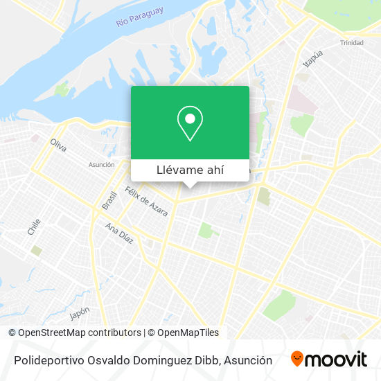 Mapa de Polideportivo Osvaldo Dominguez Dibb