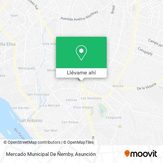 Mapa de Mercado Municipal De Ñemby