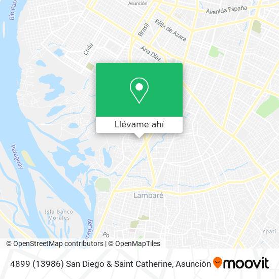 Mapa de 4899 (13986) San Diego & Saint Catherine